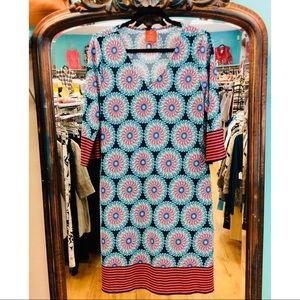 Tracy Negoshian Retro Circles Dress NWT BOHO Style